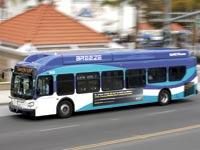 אוטובוס שפועל על גז טבעי / צילום: רויטרס