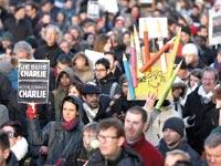 הפגנת תמיכה בשארלי הבדו / צילום: רויטרס