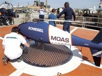 """מזל""""ט של ארגון MOAS בים התיכון / צילום: רויטרס"""