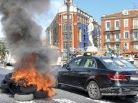 הפגנה נגד אובר בצרפת / צילום: רויטרס