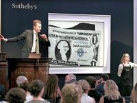 יצירה של אנדי וורהל במכירה פומבית בסותביס / צילום: יחצ