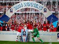 ארסנל זוכה בגביע האנגלי 2014 / צילום: רויטרס