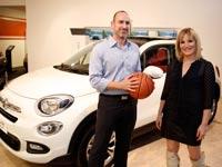 איריס שטרק, אורי להב / צלם: באדיבות מנהלת ליגת אתנה ווינר לנשים בכדורסל