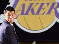 ג'רמי לין מוצג בלוס אנג'לס לייקרס, NBA / צלם: רויטרס