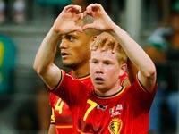 קווין דה ברוינה, וינסנט קומפאני, נבחרת בלגיה / צלם: רויטרס
