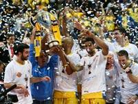 """מכבי ת""""א זוכה בגביע המדינה בכדורסל 2015 / צלם: עודד קרני"""