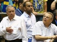 דייויד פדרמן ושמעון מזרחי / צילום: אלן שיבר – מינהלת הליגה