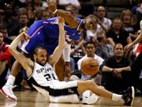 כריס פול, מאנו ג'ינובילי, סן אנטוניו מול קליפרס, NBA / צלם: רויטרס