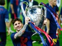 ליונל מסי עם גביע ליגת האלופות 2015 / צלם: רויטרס