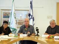 השר אורי אריאל במסיבת עיתונאים1 צילום: גדעון מרקוביץ
