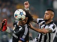 וידאל מול מרסלו, יובנטוס נגד ריאל מדריד, ליגת האלופות / צלם: רויטרס