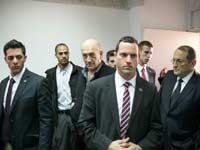 אהוד אולמרט ופרקליטיו צילום:נועם מושקוביץ , וואלה!NEWS