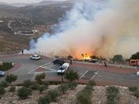 שריפה ביישוב גילון/ צילום: פרח דימרמן