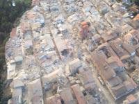 צילום מהאויר על אזור רעידת האדמה באיטליה / צילום: רויטרס
