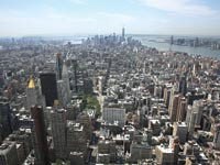 ניו יורק, מנהטן תחתית, מימין נהר ההדסון ומשמאל האיסט ריבר / צילום: רויטרס