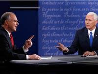 הסנטור טים קיין,  והמושל מייק פנס / צילום: רויטרס