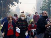 שריפה פינוי תושבים מבתיהם בחיפה/ צילום:רויטרס