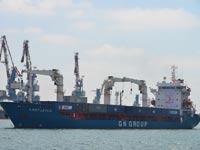 האניה הטורקית בנמל אשדוד / צילום: תמר מצפי