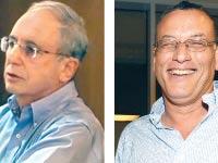 פרופסור ישי בר  ופרופסור דוד קרצ'מר/ צילום: תמר מצפי