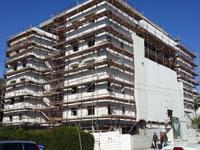 מניה וישראל 11, השלמת שלב חיפוי האבן בחזיתות הבניין / צילום: אקו סיטי