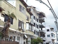 בנין בשיפוץ / צילום: תמר מצפי