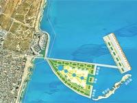 """הדמיית האיים המלאכותיים. """"הזדמנות פז"""" / הדמיה: עיריית הרצליה"""