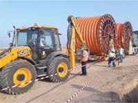 עבודות להנחת צנרת גז / צילום: התאחדות התעשיינים