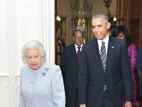 הנשיא אובמה ומלכת אנגליה / צילום: רויטרס