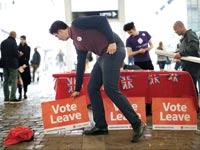 מתוך הקמפיין בעד עזיבת האיחוד האירופי / צילום: בלומברג