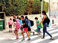 תלמידים בית הספר / צילום: תמר מצפי