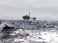 אסדת גז בים התיכון / צילום: רויטרס