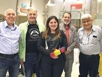 """צוות Haifa3D עם ד""""ר שול / צילום: פאבלאב מדעטק - המוזיאון הלאומי למדע"""