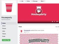 דף הפייסבוק של Houseparty