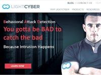 האתר של LightCyber. זיהוי התנהגות התקפית / צילום: אתר החברה