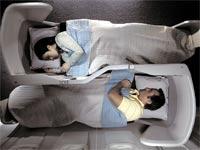 """מושבים שממוקמים בצורת יין יאנג / צילום: יח""""צ בריטיש איירווייז"""