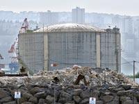 מכל האמוניה במפרץ חיפה/ צילום: ערן גילווארג