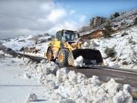 מפלסות שלג בכבישי צפון רמת הגולן / צילום: חברת נתיבי ישראל