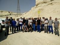 """עובדי נתג""""ז מונעים את חיבור תחנת הכוח של כיל בים המלח לתשתית הגז הטבע/ צילום באדיבות דוברות ההסתדרות"""