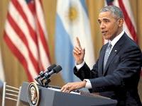 ברק אובמה בארגנטינה / צילום: רויטרס