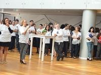 מחאת עובדי הבורסה / צילום: תמר מצפי