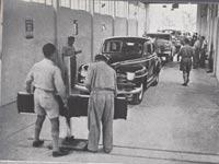 """בדיקות רישוי למכוניות בין 1948-1952/  צילום: לע""""ם – מתוך האתר פיקיוויקי"""