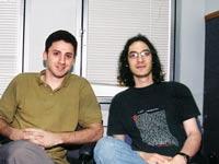 """היו זמנים במיראביליס. גולדפינגר (מימין) ו–ויגיסר / צילום: יח""""צ"""