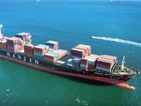 אוניה של הנג'ין. מניות החברה קרסו ב 63% השנה. צילום: בלומברג