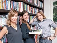 אלכסיי זצפין (מימין), מיקה שץ וקארין סביצקי / צילום: אנה מוריין