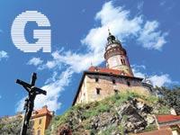 צ'כיה  מגדל במצודה בצ'סקי קרומלוב / צילומים: שלומי יוסף