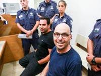 אלדד יניב ומני נפלי בבית המשפט / צילום: שלומי יוסף