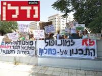 הפגנה של מינהל התכנון נגד האוצר / צילום: דב גרינבלט