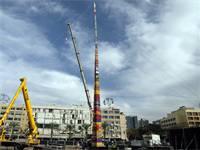 מגדל הלגו בכיכר רבין לזכר עומר סייג / צילום: עמאר עוואד, רויטרס