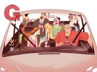 תחבורה שיתופית  / איור: עובדיה בנישו
