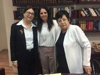 מרים נאור, איילת שקד ואסתר חיות  צילום: משרד המשפטים